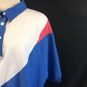 Vintage Tops - Vintage Color Block Windbreaker Style Shirt